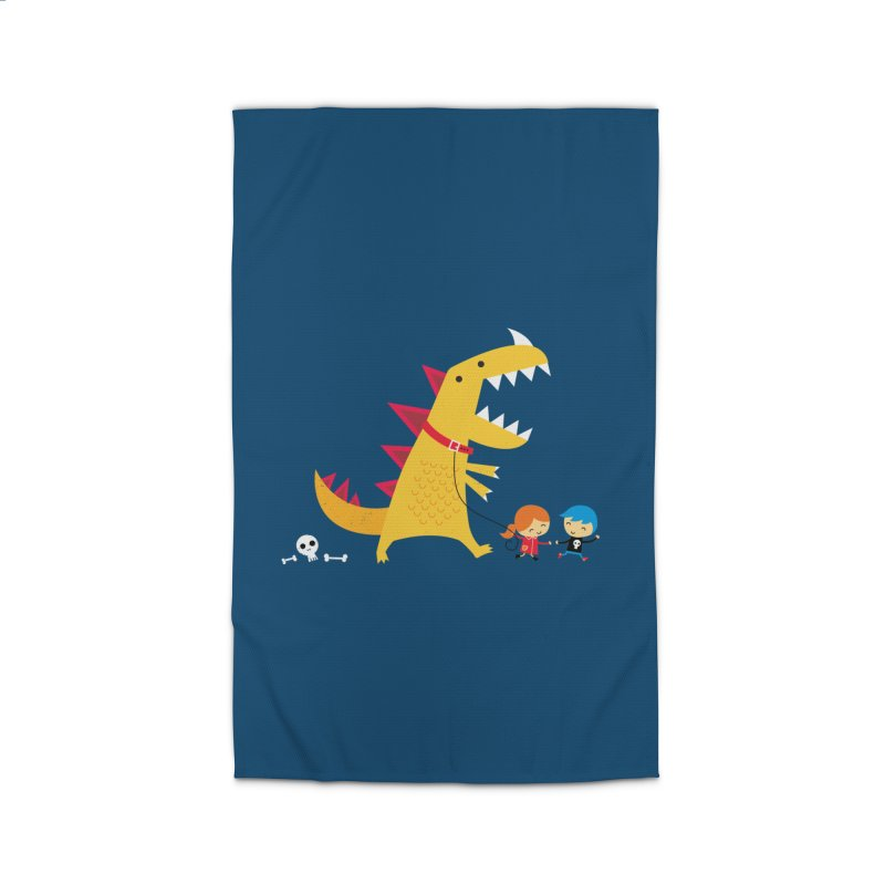Dino Walk Home Rug by DinoMike's Artist Shop