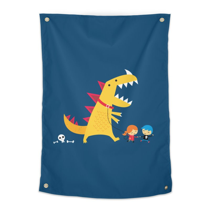 Dino Walk Home Tapestry by DinoMike's Artist Shop