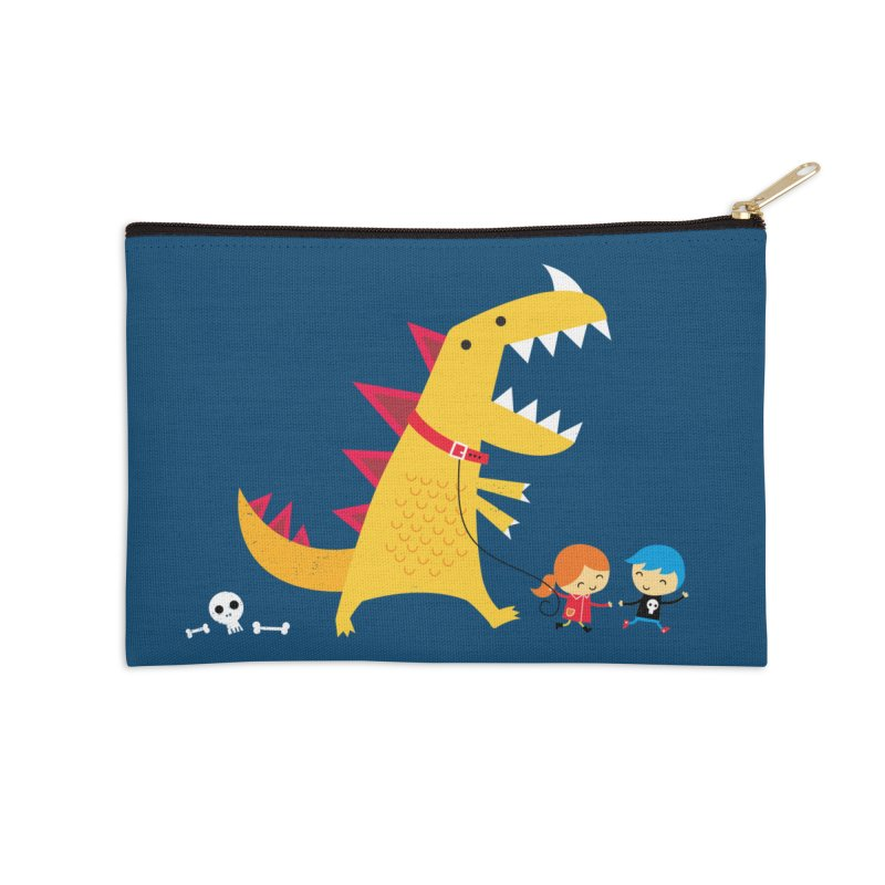 Dino Walk Accessories Zip Pouch by DinoMike's Artist Shop