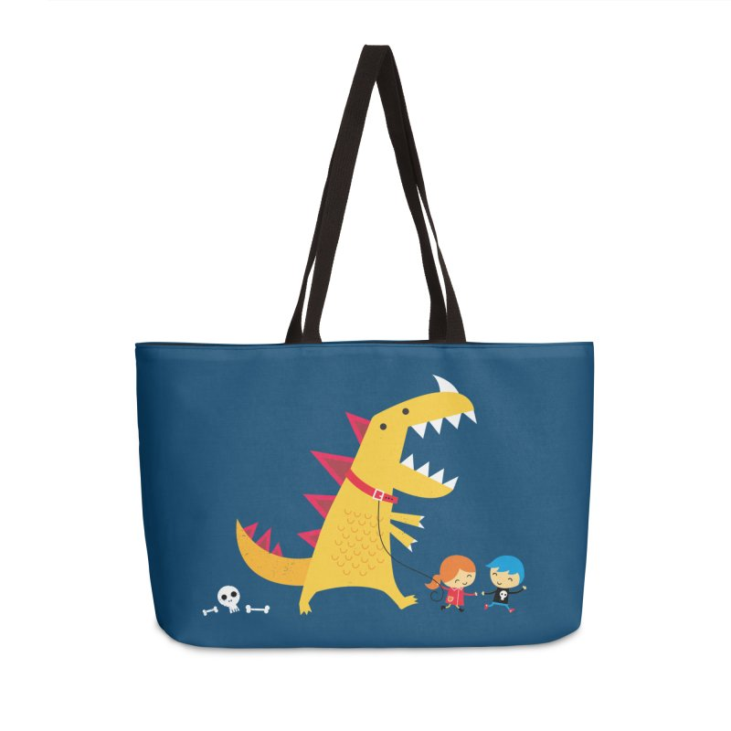 Dino Walk Accessories Weekender Bag Bag by DinoMike's Artist Shop