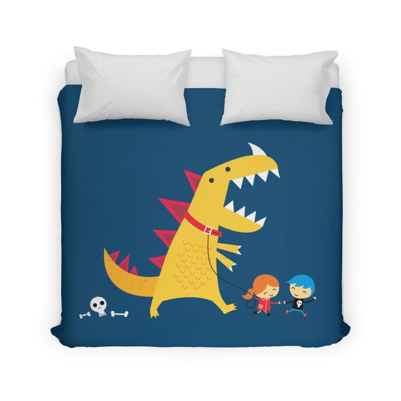 Dino Walk Home Duvet by DinoMike's Artist Shop