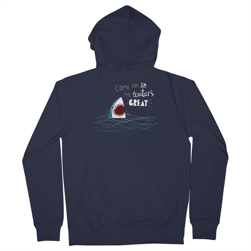 Great Advice Shark Men's French Terry Zip-Up Hoody by DinoMike's Artist Shop