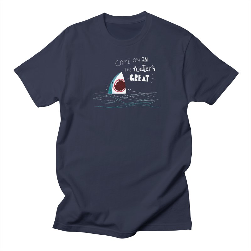 Great Advice Shark Women's Regular Unisex T-Shirt by DinoMike's Artist Shop