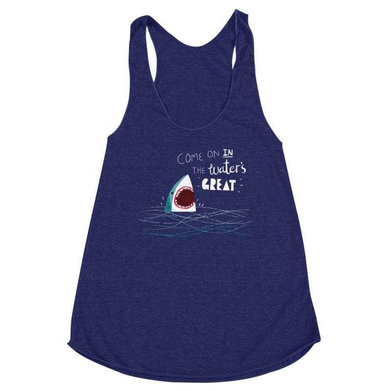 Great Advice Shark Women's Racerback Triblend Tank by DinoMike's Artist Shop