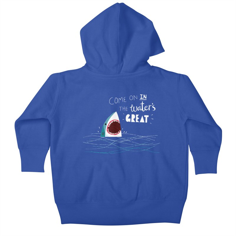 Great Advice Shark Kids Baby Zip-Up Hoody by DinoMike's Artist Shop