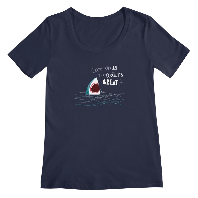 Great Advice Shark Women's Scoopneck by DinoMike's Artist Shop