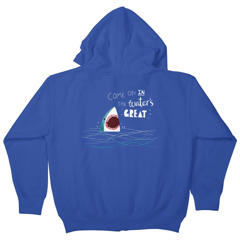 Great Advice Shark Kids Zip-Up Hoody by DinoMike's Artist Shop