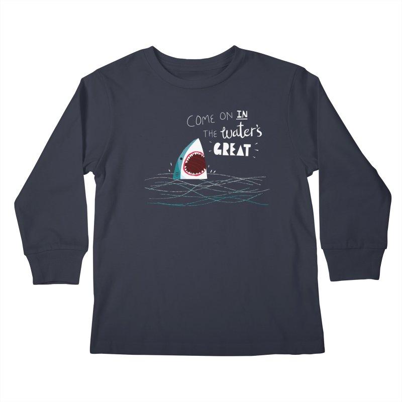 Great Advice Shark Kids Longsleeve T-Shirt by DinoMike's Artist Shop