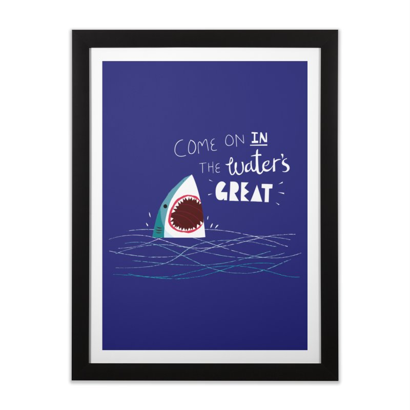Great Advice Shark Home Framed Fine Art Print by DinoMike's Artist Shop