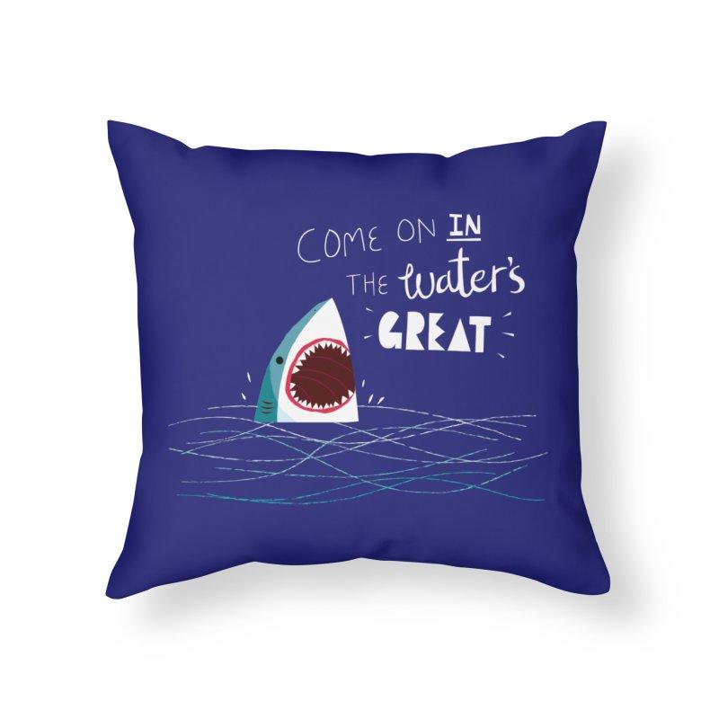 Great Advice Shark Home Throw Pillow by DinoMike's Artist Shop