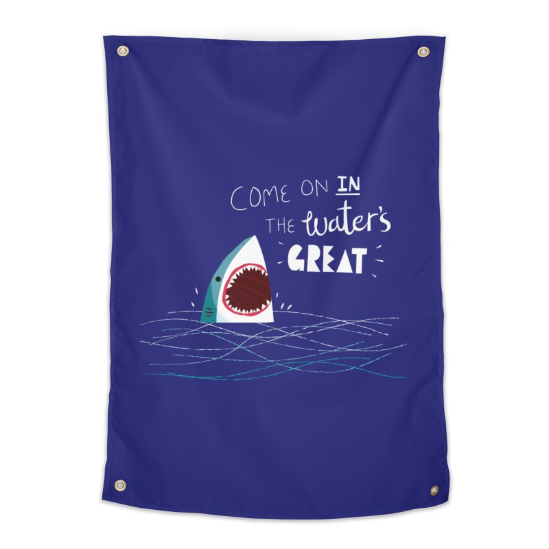 Great Advice Shark Home Tapestry by DinoMike's Artist Shop