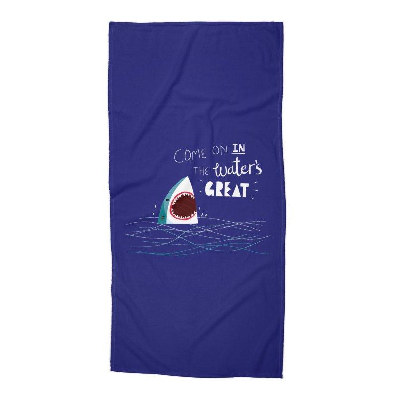 Great Advice Shark Accessories Beach Towel by DinoMike's Artist Shop