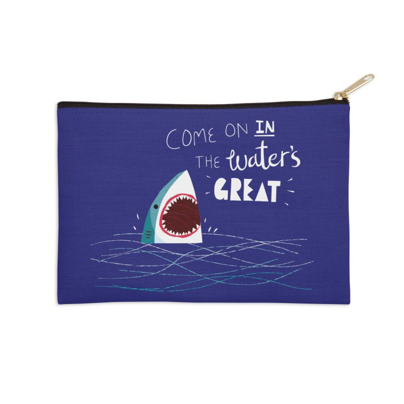 Great Advice Shark Accessories Zip Pouch by DinoMike's Artist Shop
