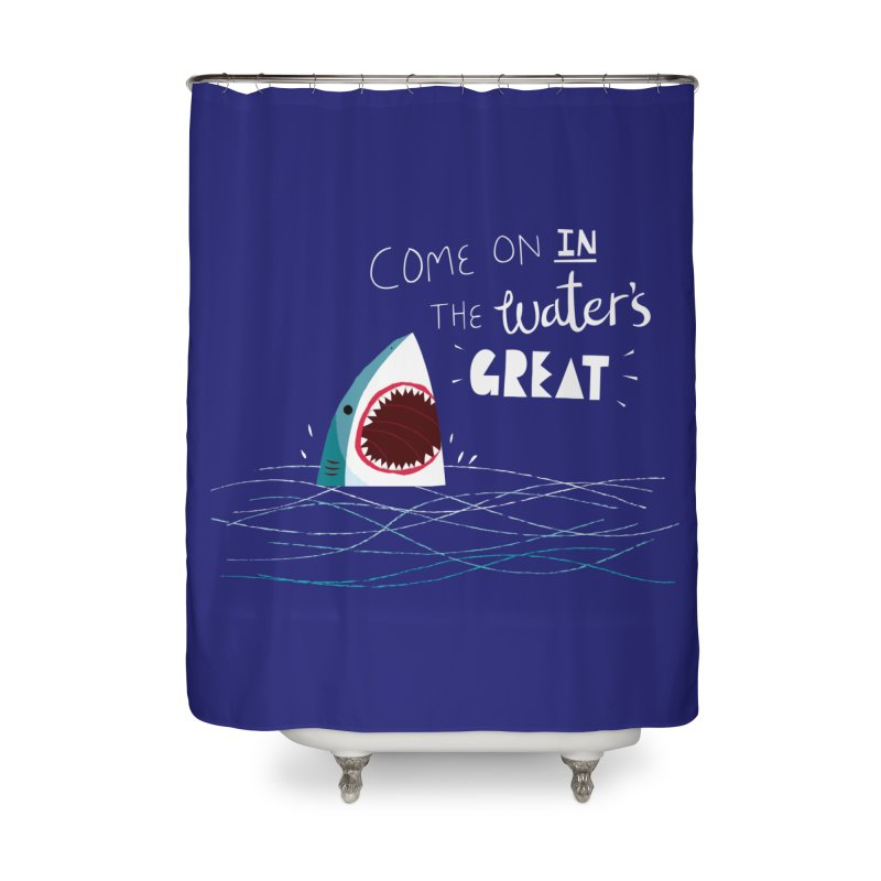 Great Advice Shark Home Shower Curtain by DinoMike's Artist Shop