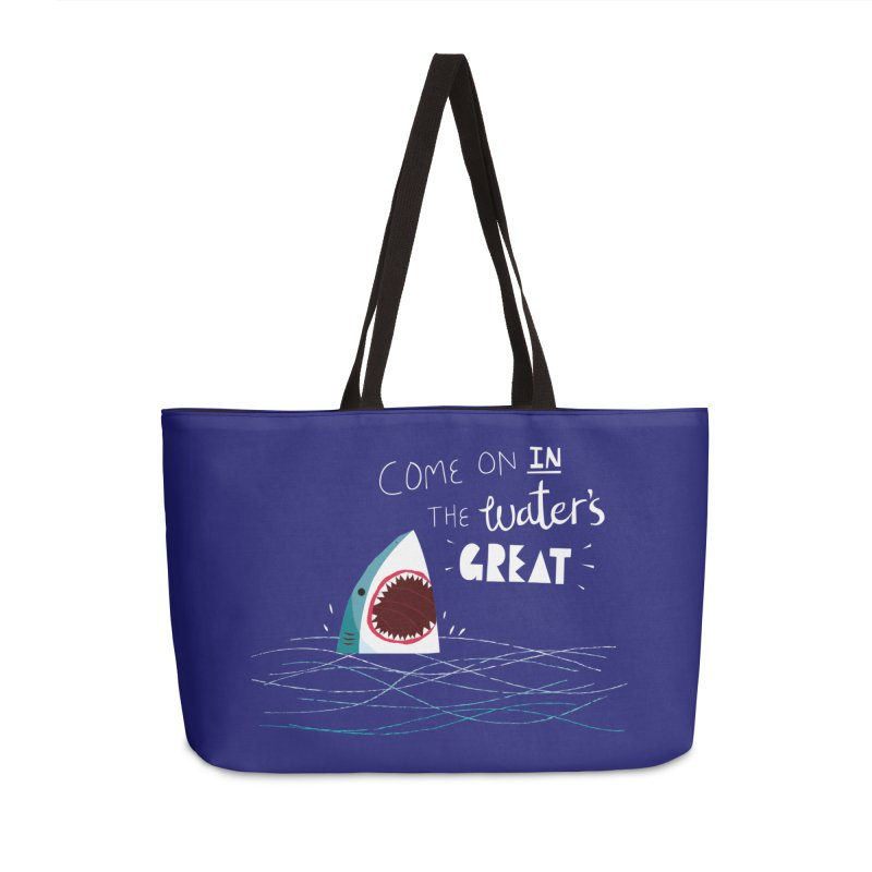 Great Advice Shark Accessories Weekender Bag Bag by DinoMike's Artist Shop