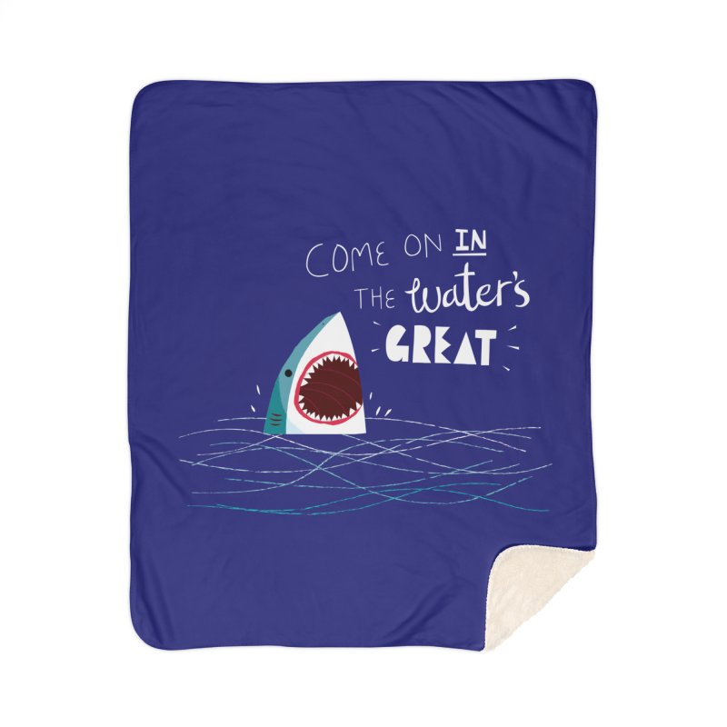 Great Advice Shark Home Sherpa Blanket Blanket by DinoMike's Artist Shop