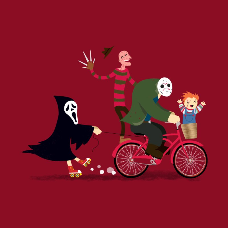 Horror Night Off Kids Toddler T-Shirt by DinoMike's Artist Shop