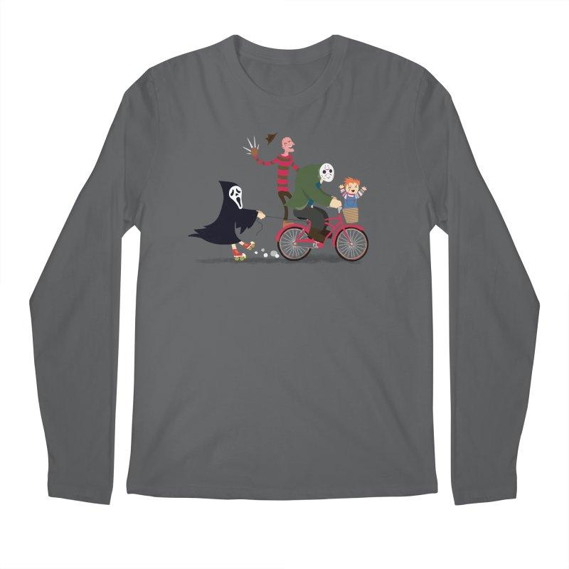Horror Night Off Men's Longsleeve T-Shirt by DinoMike's Artist Shop