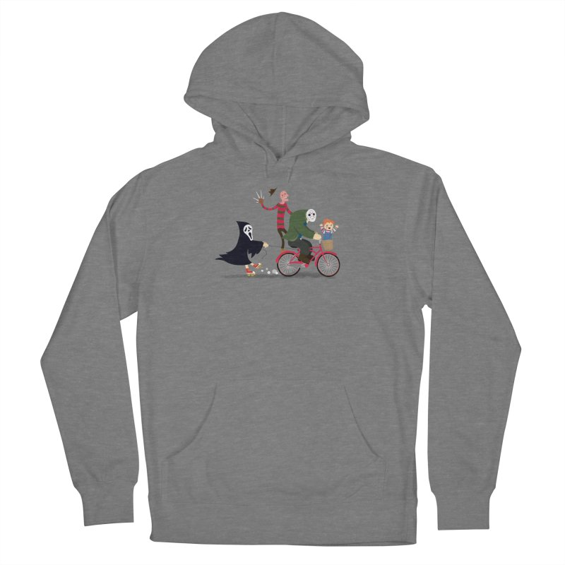 Horror Night Off Men's French Terry Pullover Hoody by DinoMike's Artist Shop