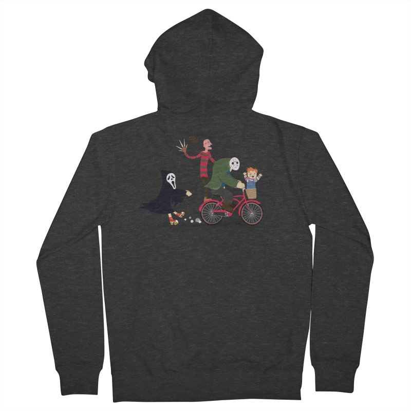 Horror Night Off Men's Zip-Up Hoody by DinoMike's Artist Shop