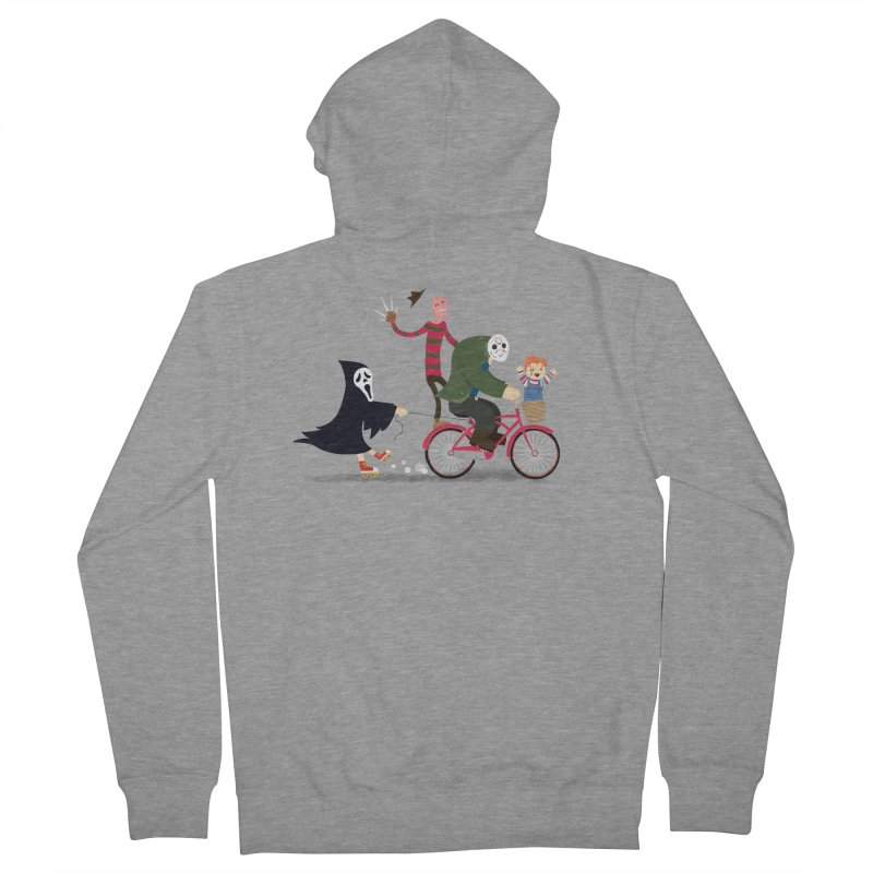 Horror Night Off Men's French Terry Zip-Up Hoody by DinoMike's Artist Shop