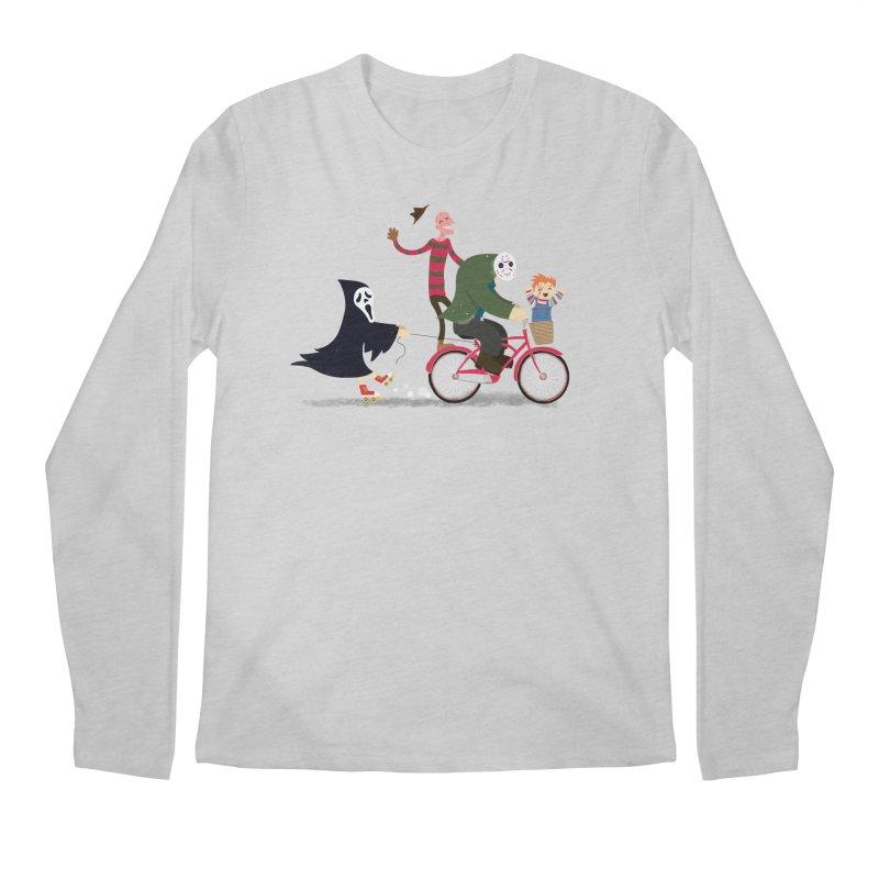 Horror Night Off Men's Regular Longsleeve T-Shirt by DinoMike's Artist Shop