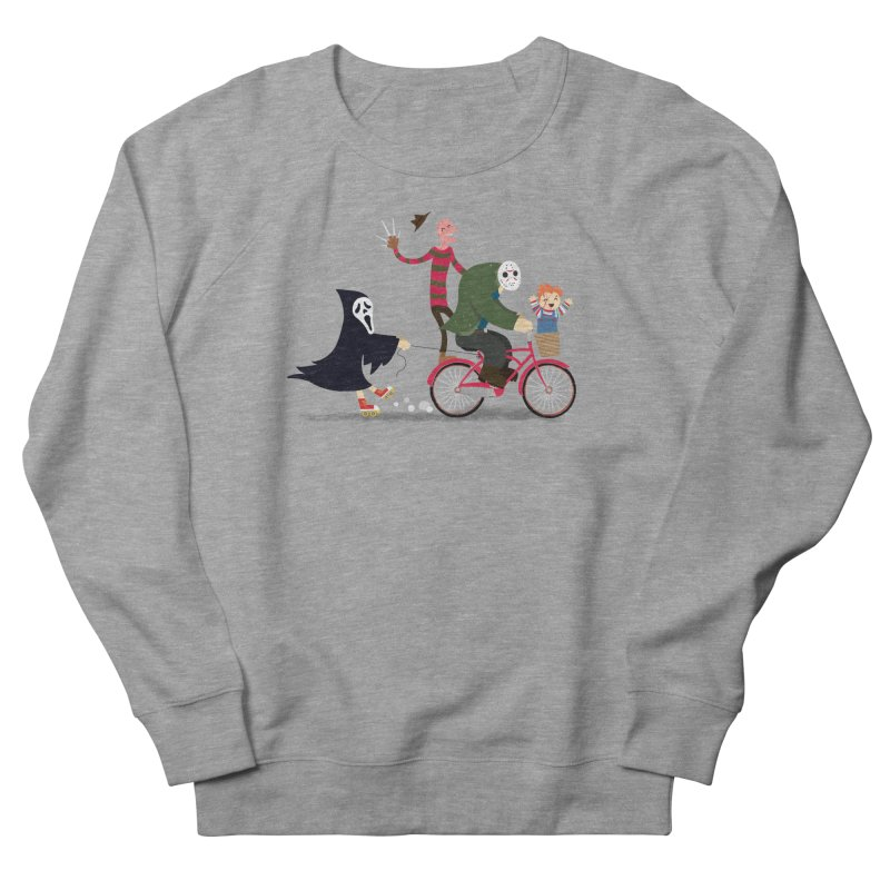 Horror Night Off Women's French Terry Sweatshirt by DinoMike's Artist Shop