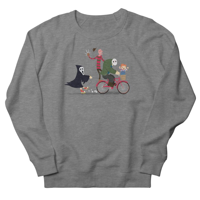 Horror Night Off Men's French Terry Sweatshirt by DinoMike's Artist Shop