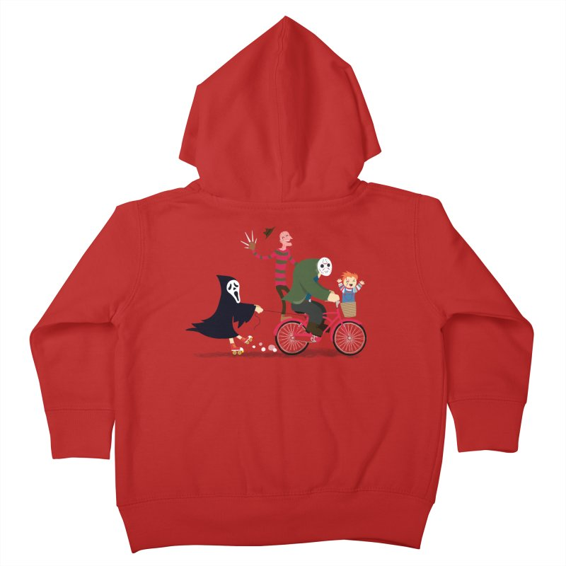 Horror Night Off Kids Toddler Zip-Up Hoody by DinoMike's Artist Shop