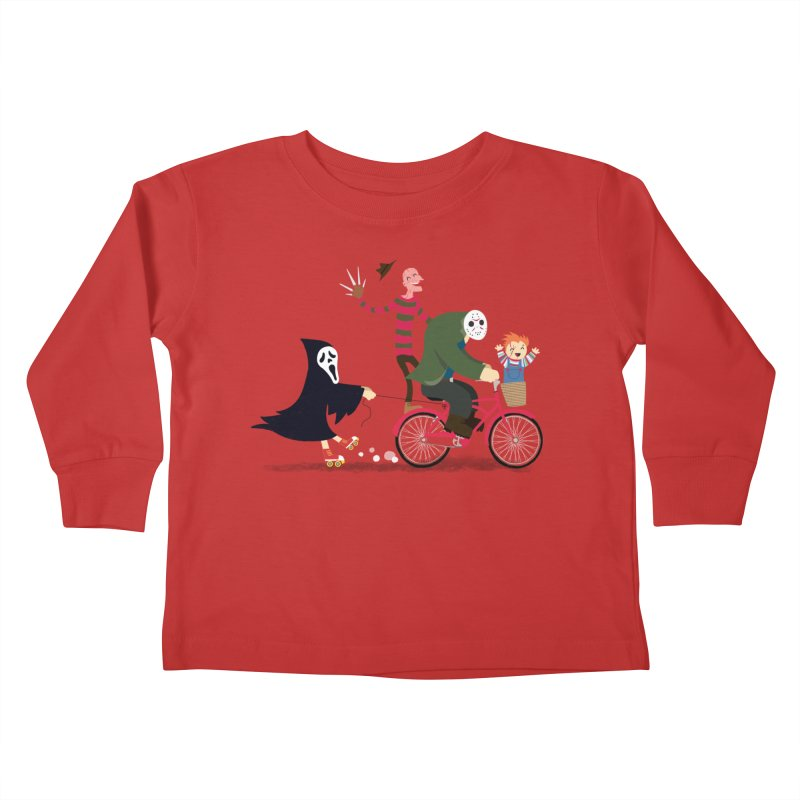 Horror Night Off Kids Toddler Longsleeve T-Shirt by DinoMike's Artist Shop