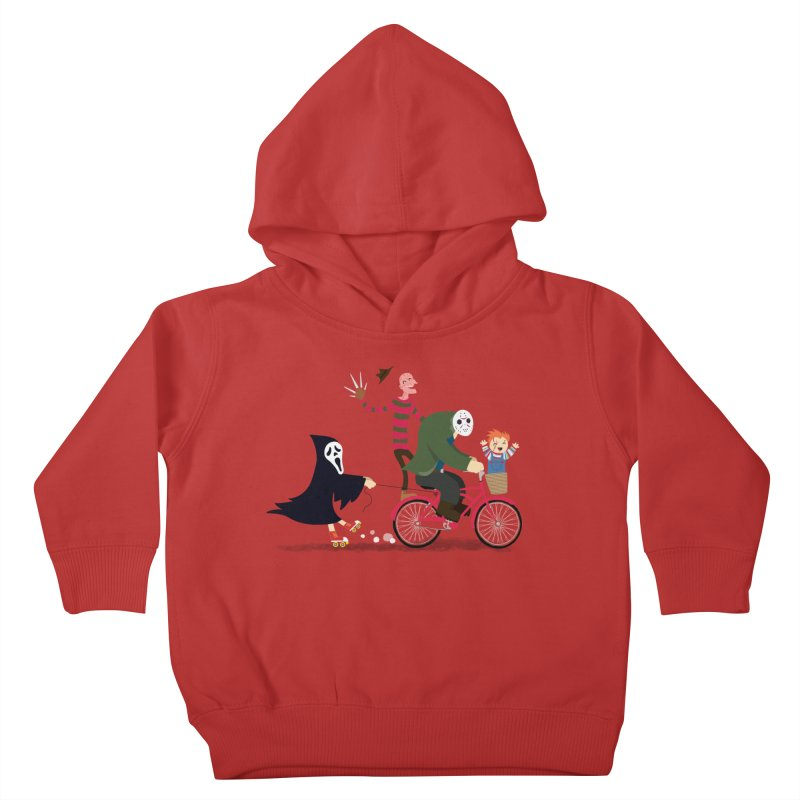 Horror Night Off Kids Toddler Pullover Hoody by DinoMike's Artist Shop