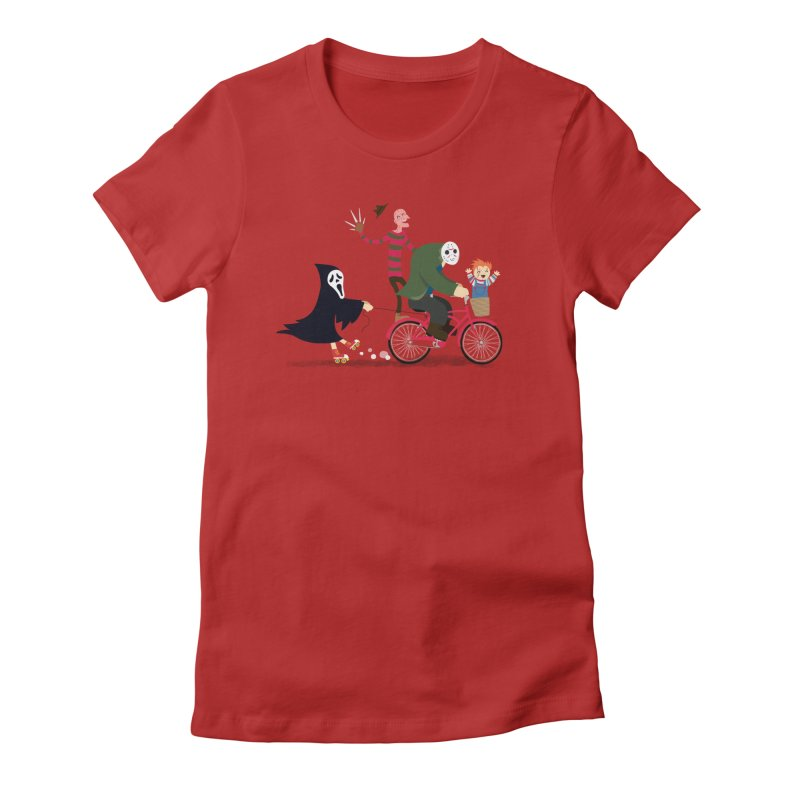 Horror Night Off Women's Fitted T-Shirt by DinoMike's Artist Shop