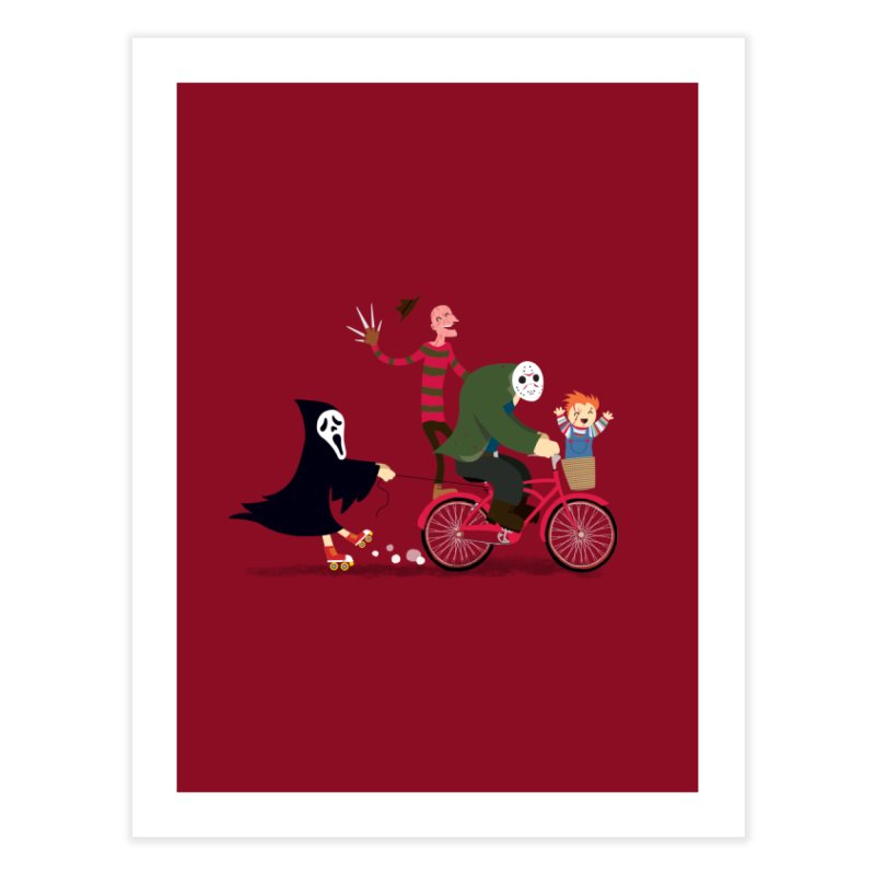 Horror Night Off Home Fine Art Print by DinoMike's Artist Shop
