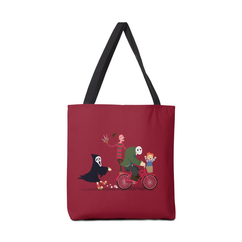 Horror Night Off Accessories Tote Bag Bag by DinoMike's Artist Shop