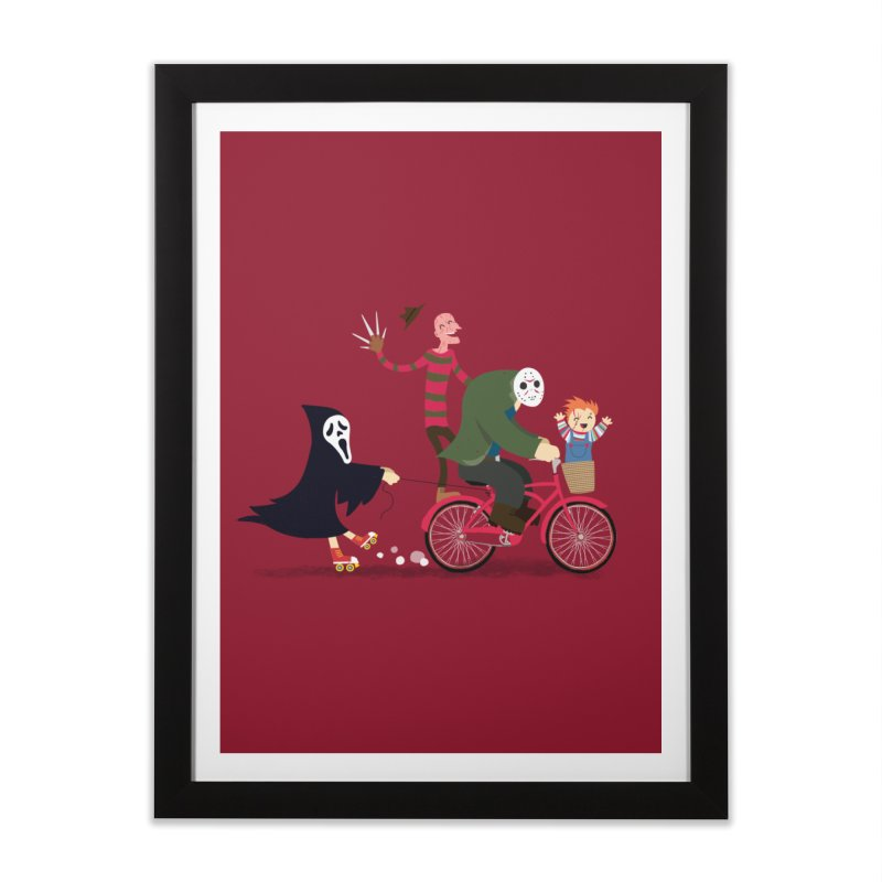 Horror Night Off Home Framed Fine Art Print by DinoMike's Artist Shop