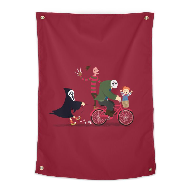 Horror Night Off Home Tapestry by DinoMike's Artist Shop