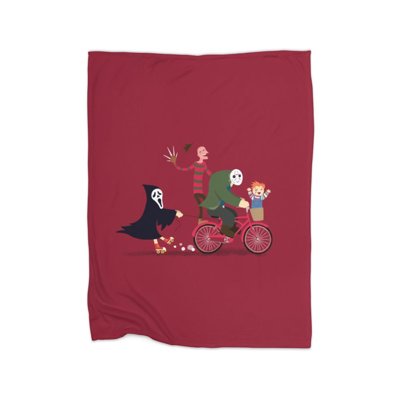 Horror Night Off Home Fleece Blanket Blanket by DinoMike's Artist Shop