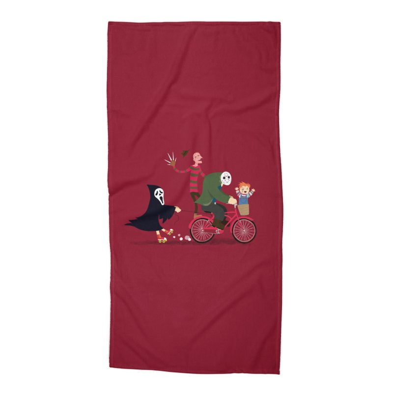 Horror Night Off Accessories Beach Towel by DinoMike's Artist Shop