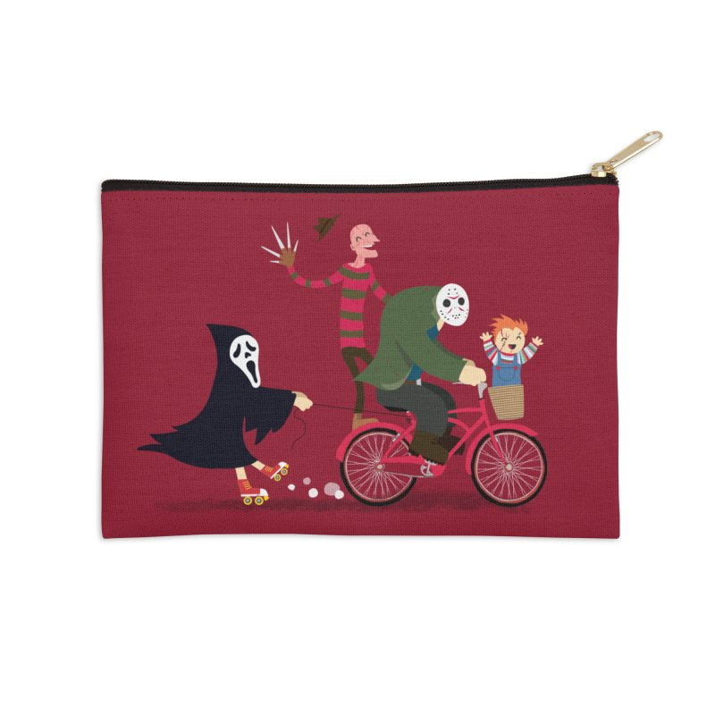 Horror Night Off Accessories Zip Pouch by DinoMike's Artist Shop