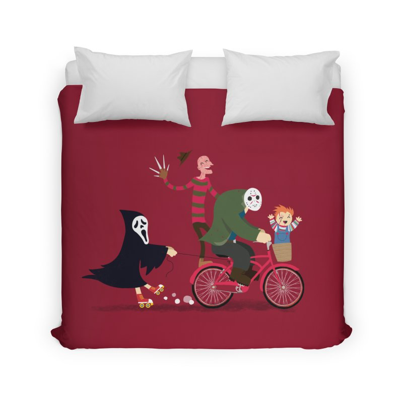 Horror Night Off Home Duvet by DinoMike's Artist Shop