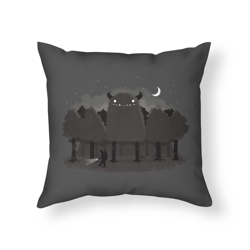 Monster Hunting Home Throw Pillow by DinoMike's Artist Shop