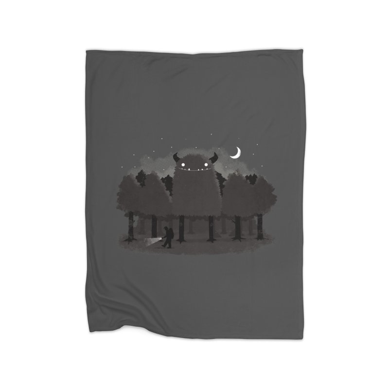 Monster Hunting Home Fleece Blanket Blanket by DinoMike's Artist Shop