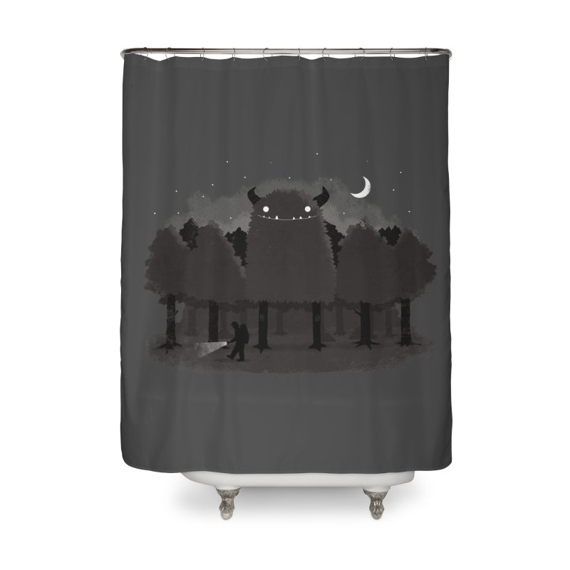 Monster Hunting Home Shower Curtain by DinoMike's Artist Shop