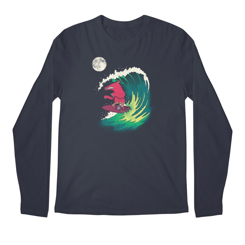 Moonlight Surfer Men's Longsleeve T-Shirt by DinoMike's Artist Shop