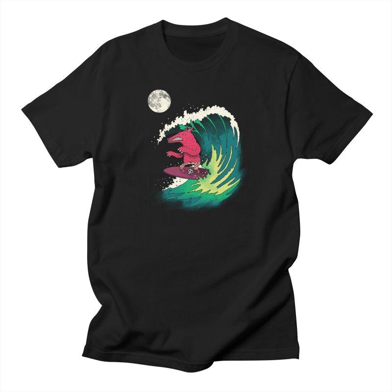 Moonlight Surfer Women's T-Shirt by DinoMike's Artist Shop
