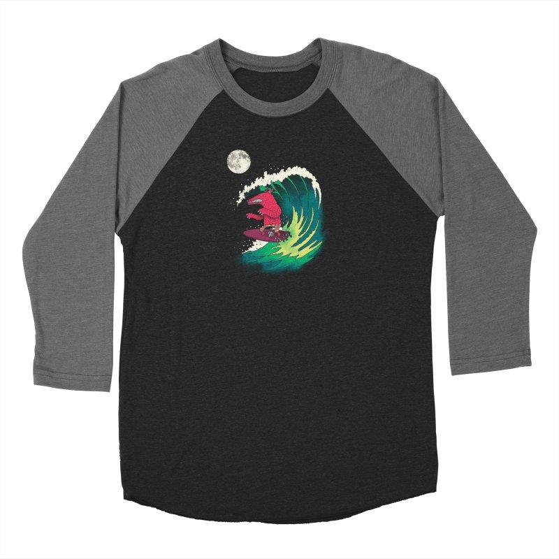 Moonlight Surfer Men's Baseball Triblend Longsleeve T-Shirt by DinoMike's Artist Shop