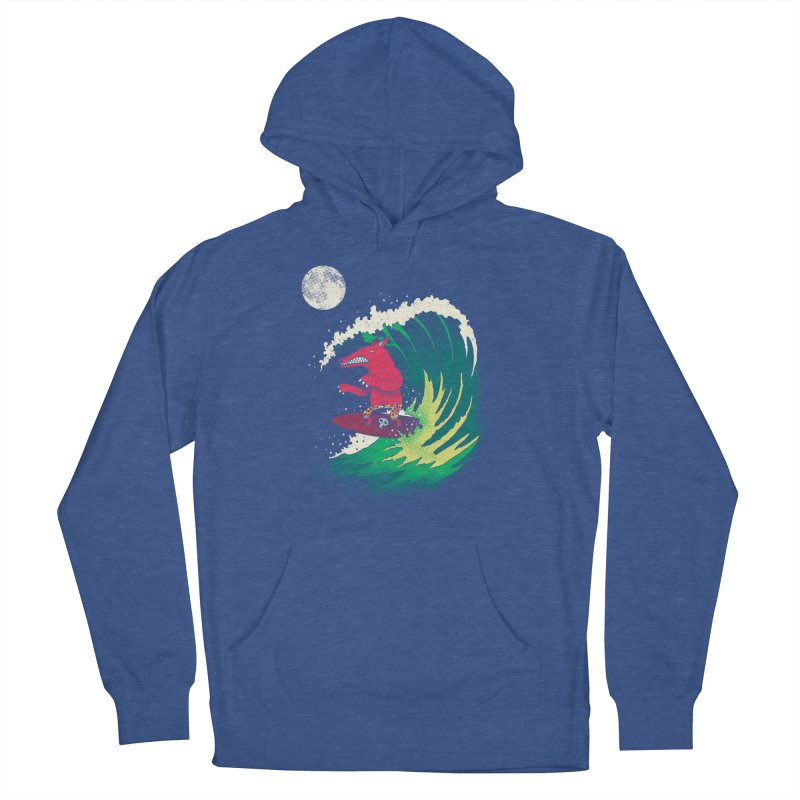 Moonlight Surfer Women's Pullover Hoody by DinoMike's Artist Shop