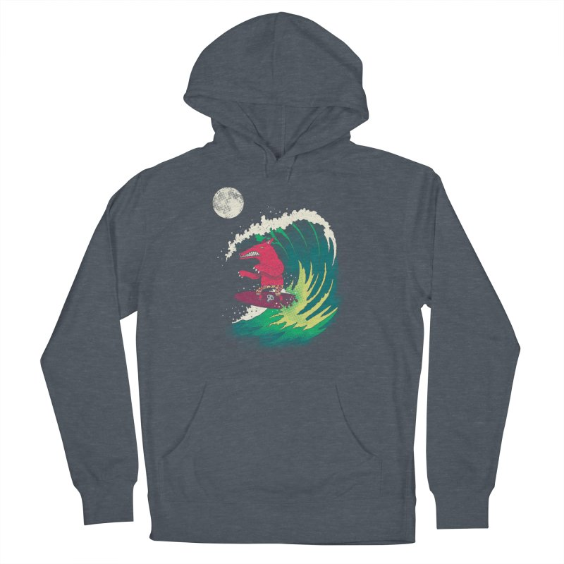 Moonlight Surfer Women's French Terry Pullover Hoody by DinoMike's Artist Shop