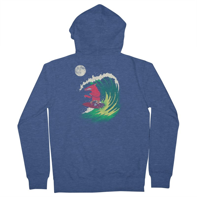 Moonlight Surfer Women's French Terry Zip-Up Hoody by DinoMike's Artist Shop