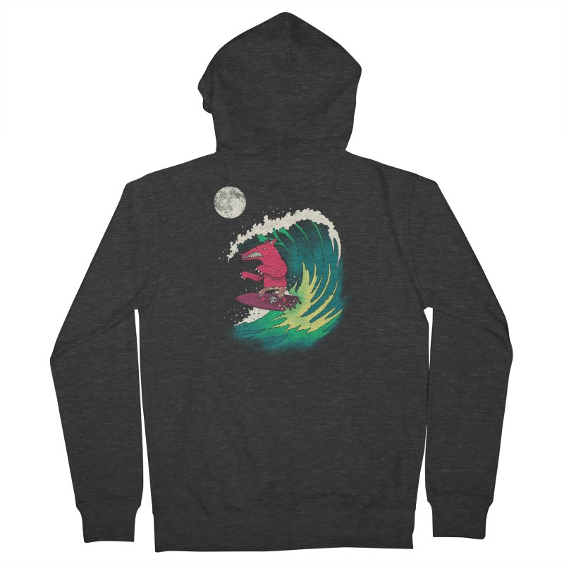 Moonlight Surfer Men's Zip-Up Hoody by DinoMike's Artist Shop